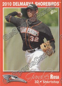2010 Delmarva Shorebirds Garabez Rosa