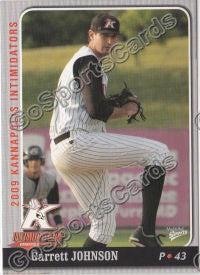 2009 Kannapolis Intimidators Garrett Johnson