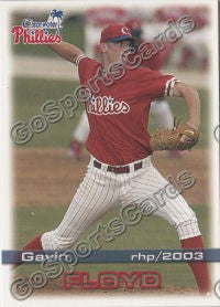 2003 Clearwater Phillies Gavin Floyd