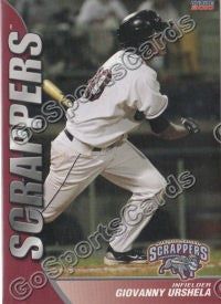 2010 Mahoning Valley Scrappers Giovanny Urshela