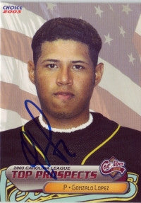Gonzalo Lopez 2003 Carolina League Top Prospects #9 (Autograph)