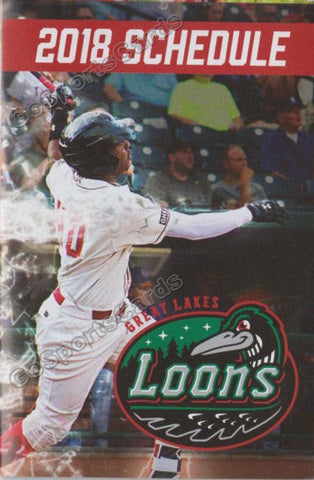 2018 Great Lakes Loons Pocket Schedule