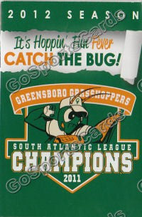 2012 Greensboro Grasshoppers Pocket Schedule (2011 Champions)