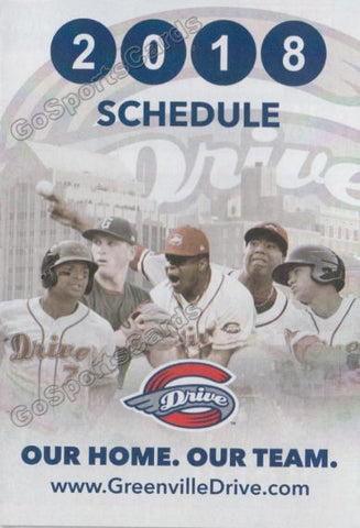 2018 Greenville Drive Pocket Schedule