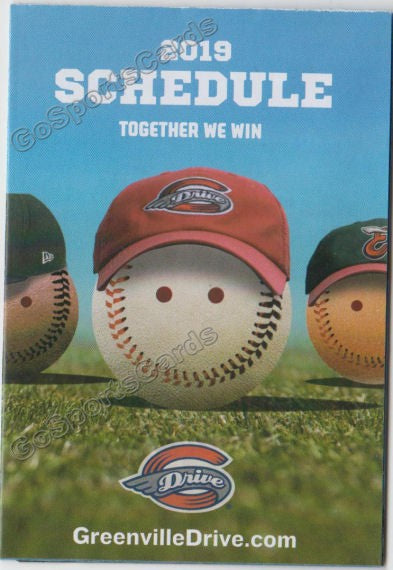 2019 Greenville Drive Pocket Schedule