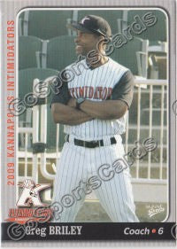 2009 Kannapolis Intimidators Greg Briley