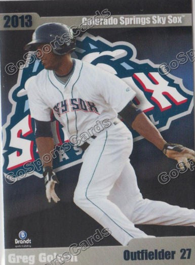 2013 Colorado Springs Sky Sox Greg Golson
