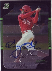 Greg Golson 2005 Bowman Chrome #161 (Autograph)