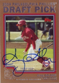 Greg Golson 2004 Topps Traded Gold /2004 #73 (Autograph)