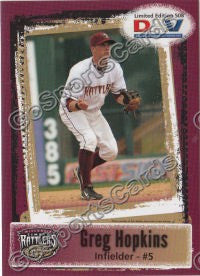 2011 Wisconsin Timber Rattlers DAV Greg Hopkins