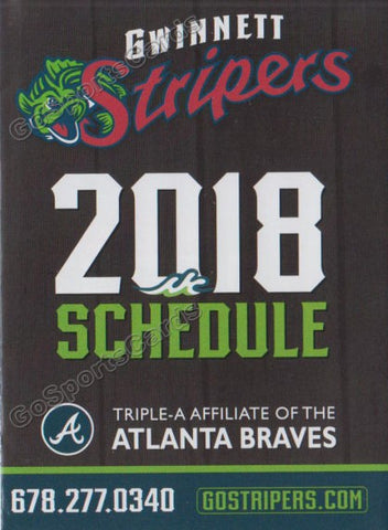 2018 Gwinnett Stripers Pocket Schedule