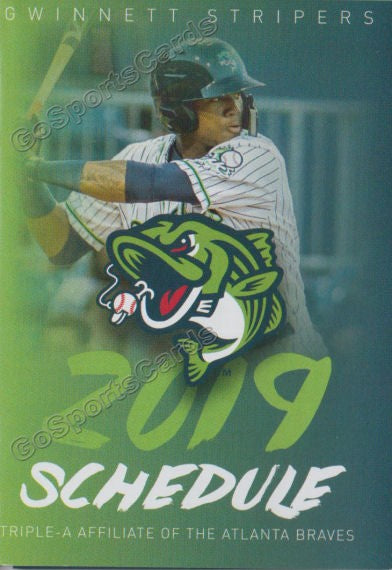 2019 Gwinnett Stripers Pocket Schedule Ronald Acuna Jr