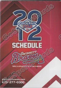 2012 Gwinnett Braves Pocket Schedule