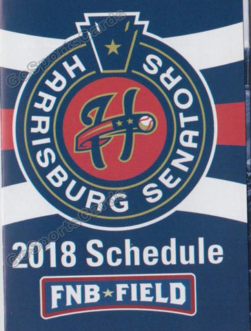 2018 Harrisburg Senators Pocket Schedule