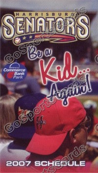 2007 Harrisburg Senators Pocket Schedule