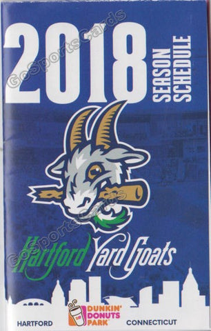 2018 Hartford Yard Goats Pocket Schedule