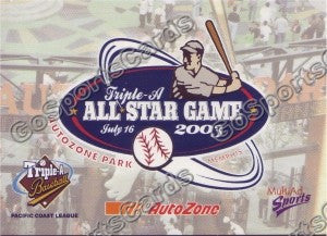 2003 Pacific Coast League All-Star Multi-Ad Header Card