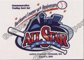 2004 Northwest League All Star 50th Header Card