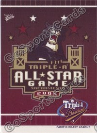 2005 Pacific Coast League All-Star Game Multi-Ad Header Card