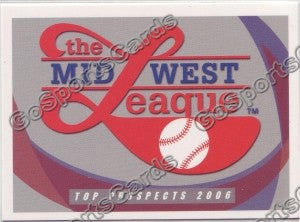 2006 Midwest League Top Prospects Header Card