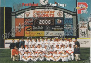2006 Portland Seadogs Header Card