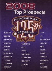 2008 International League Top Prospects header card