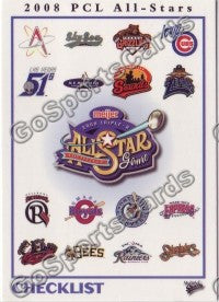 2007 Pacific Coast League All Star MultiAd Header Card