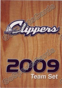 2009 Columbus Clippers Checklist Card