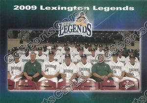 2009 Lexington Legends Team Photo