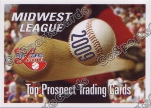 2009 MidWest League Top Prospects Header Card
