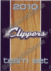 2010 Columbus Clippers Checklist Card