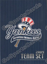 2010 Scranton Wilkes Barre Yankees Header Card