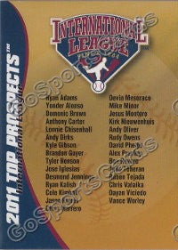 2011 International League Top Prospects Header Card