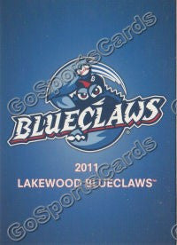 2011 Lakewood BlueClaws Header Card