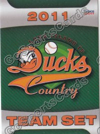 2011 Long Island Ducks Header Checklist