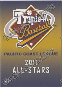 2011 Pacific Coast League All Star PCL Header Card