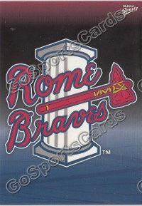 2011 Rome Braves Checklist Header Card