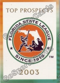 2003 Florida State League Top Prospects Header Card