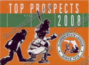 2008 Florida State League Top Prospects Header Card