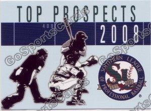 2008 Southern League Top Prospects Header Card