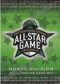 2011 Southern League All Star North Division Header Card