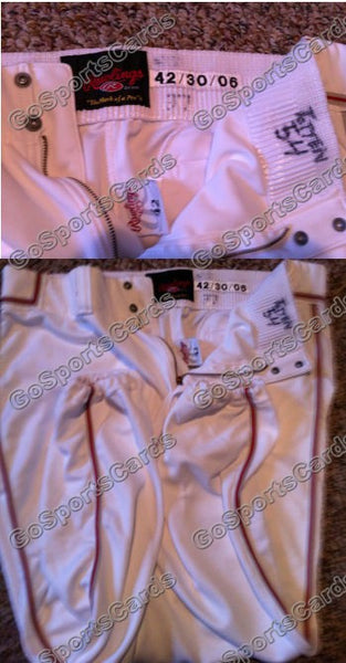 Heath Totten 2005 Reading Phillies Game Used Pants White