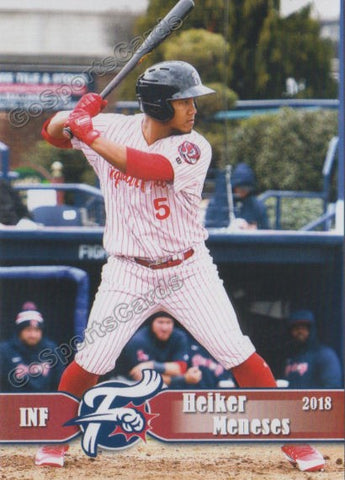 2018 Reading Fightin Phils Heiker Meneses
