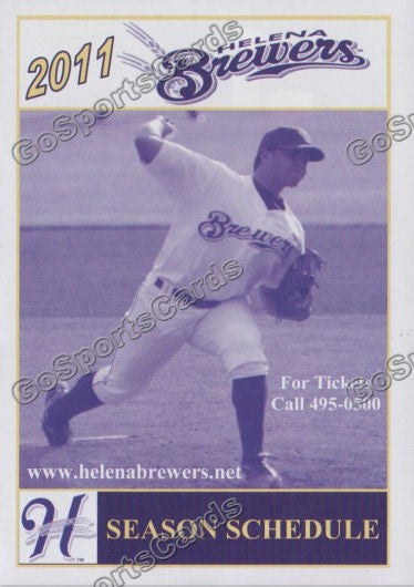 2011 Helena Brewers Pocket Schedule