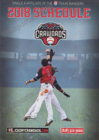 2018 Hickory Crawdads Pocket Schedule