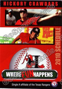 2010 Hickory Crawdads Pocket Schedule