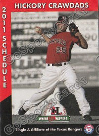 2011 Hickory Crawdads Pocket Schedule (Jake Brigham)