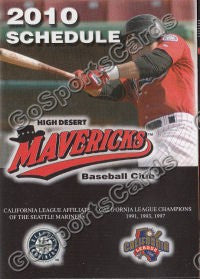 2010 High Desert Mavericks Pocket Schedule