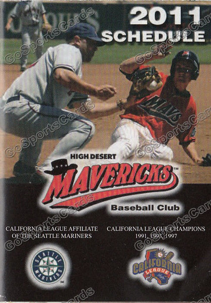 2011 High Desert Mavericks Pocket Schedule