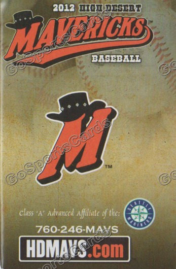 2012 High Desert Mavericks Pocket Schedule